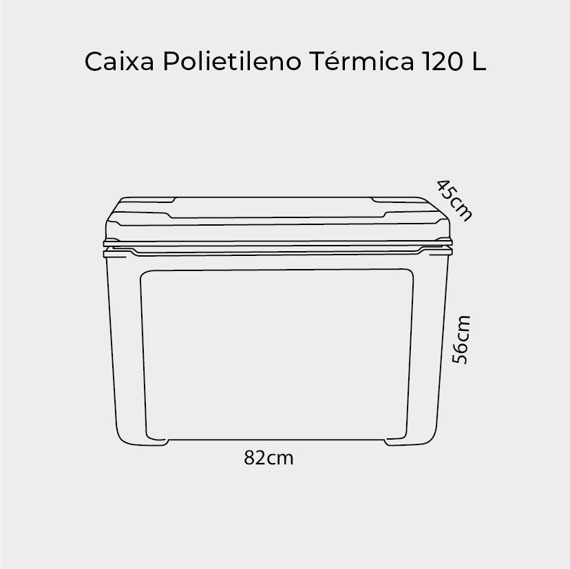 Caixa Térmica de Polietileno 120 Litros